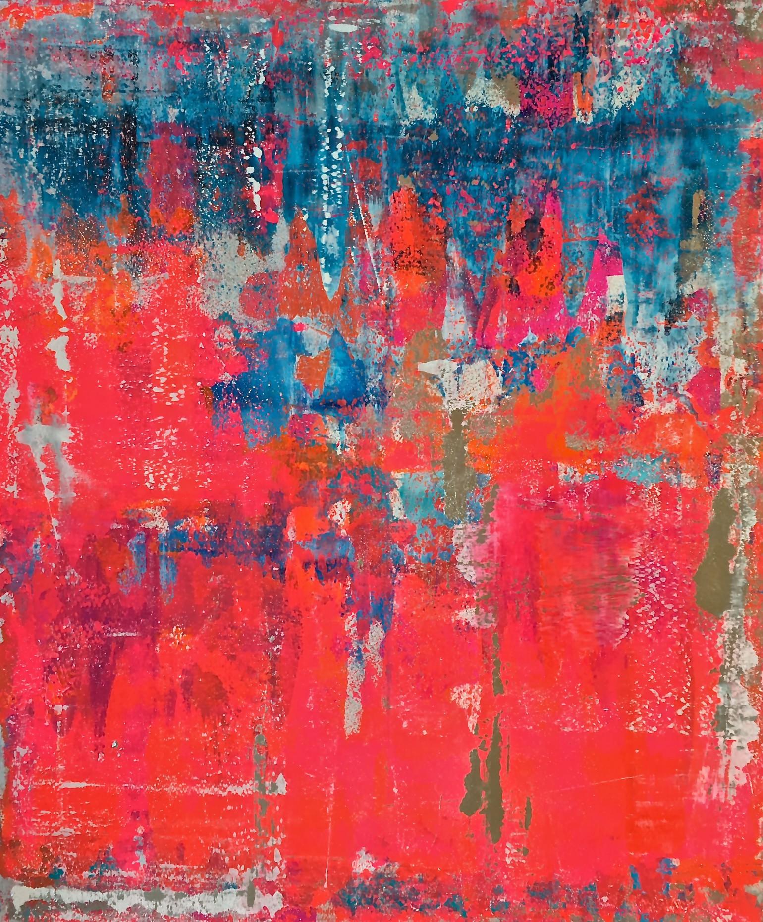 Ohne Titel (rot blau)